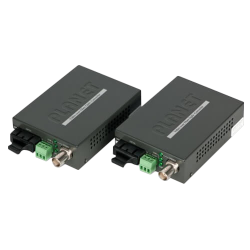 VF-102S15-KIT Video over Single mode Fiber converter, a pair include Tx & Rx in package (SM, SC, 15km)