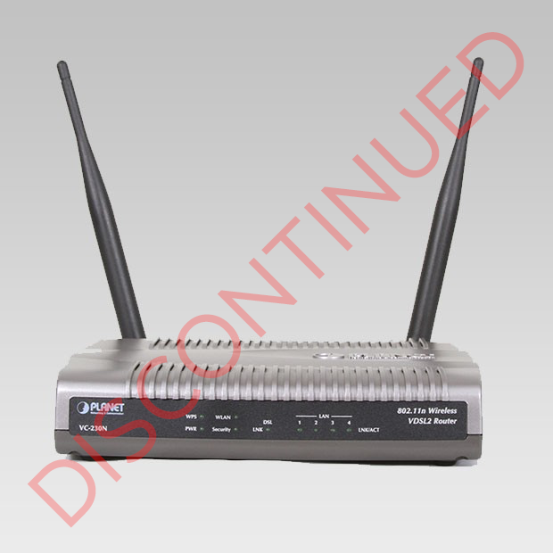 DISCONTINUED VC-230N VDSL2 Router Front