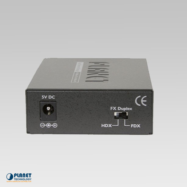 FT-802 Media Converter Back
