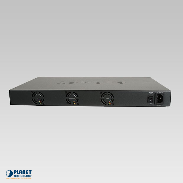 HPOE-2400G 24-Port Gigabit High PoE Injector Hub Back