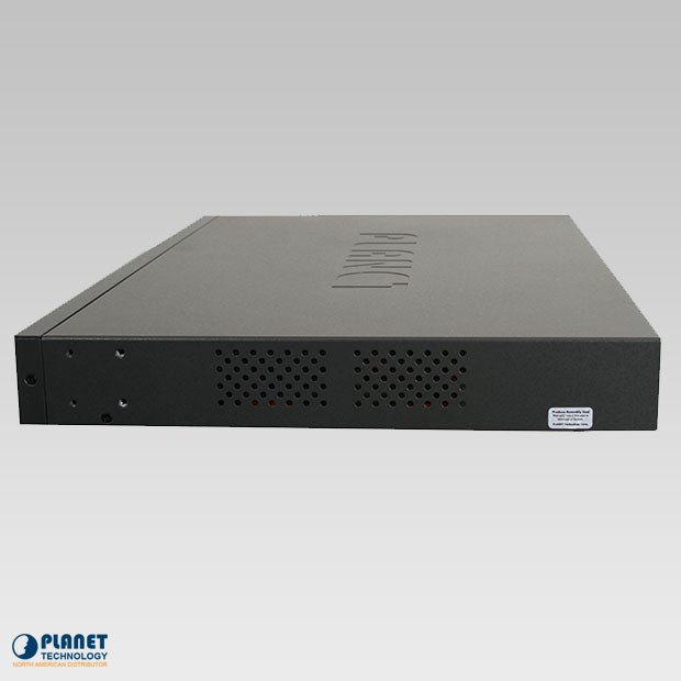 HPOE-2400G 24-Port Gigabit High PoE Injector Hub Side 1