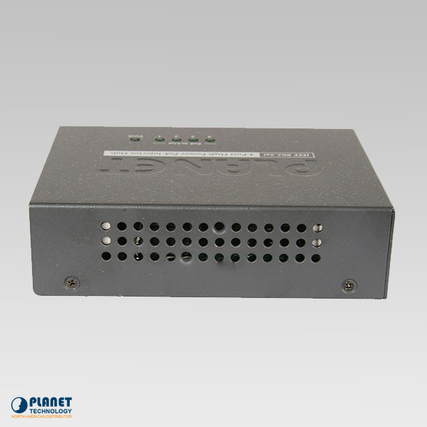 HPOE-460 4-Port High PoE Injector Hub Side 2