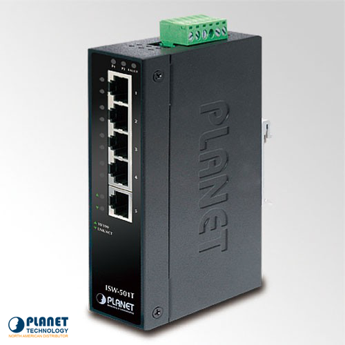 ISW-501T Industrial 5-Port Ethernet Switch