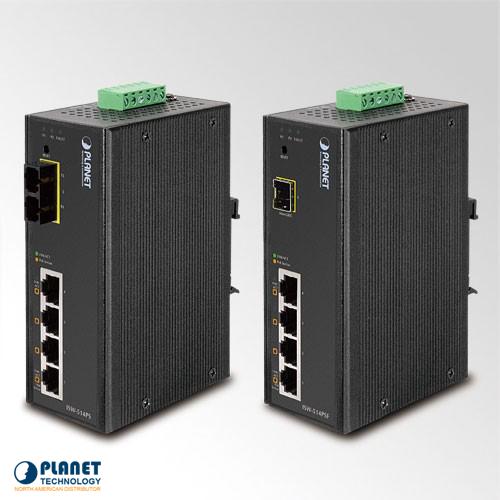 ISW-514PSF Industrial Web/Smart PoE Switch