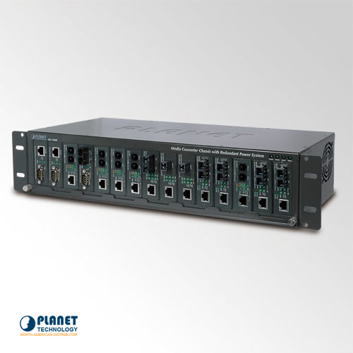 MC-1500R 15-slot Media Converter Chassis with AC Power