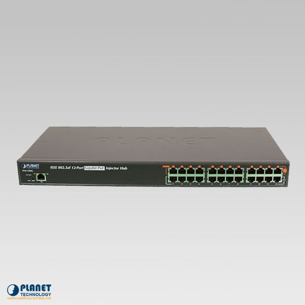 POE-1200G 12-Port Gigabit PoE Injector Hub