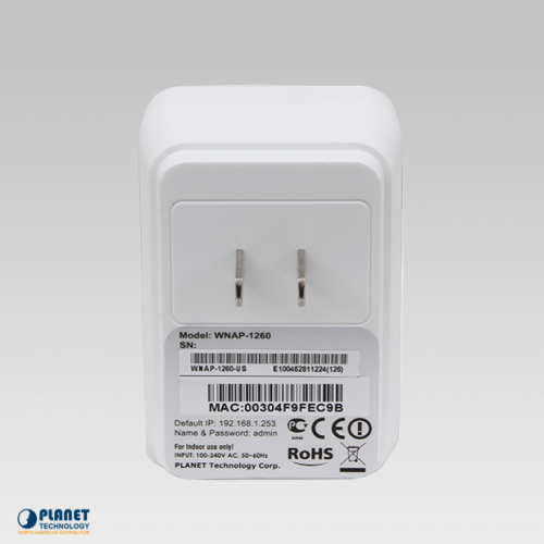 WNAP-1260 Wall Plug Travel Router Back
