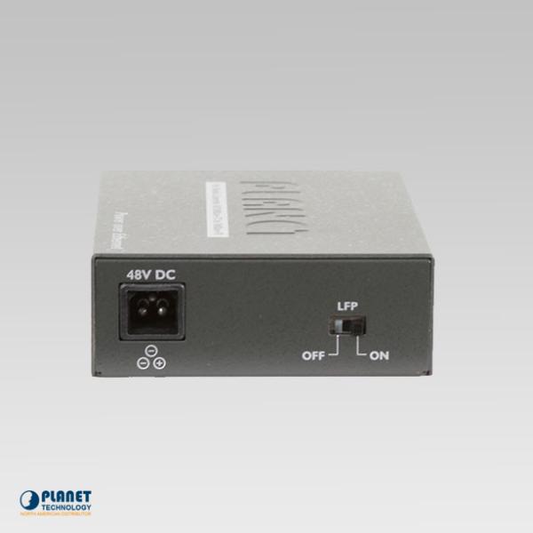 FTP-802 PoE Media Converter Back