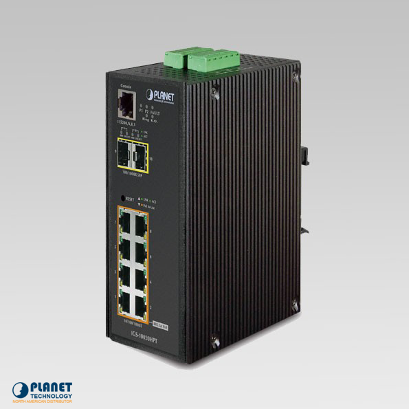 IGS-10020HPT Industrial SNMP 8-Port Switch