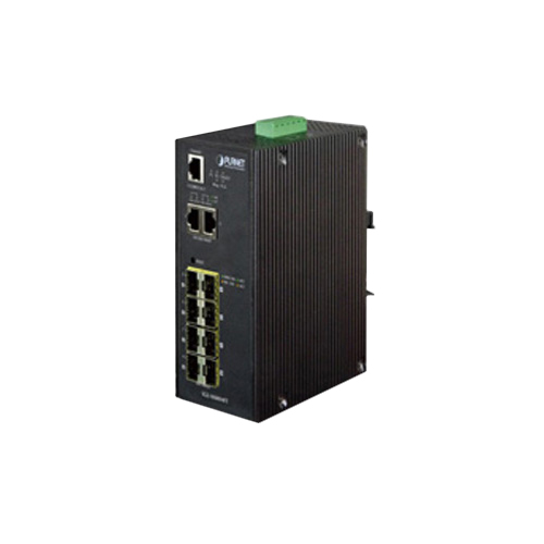 IGS-10080MFT IP30 Industrial SNMP Switch 8-Port 100/1000FX + 2-Port 10/100/1000TX (SFP) (-40 ~ 75C)