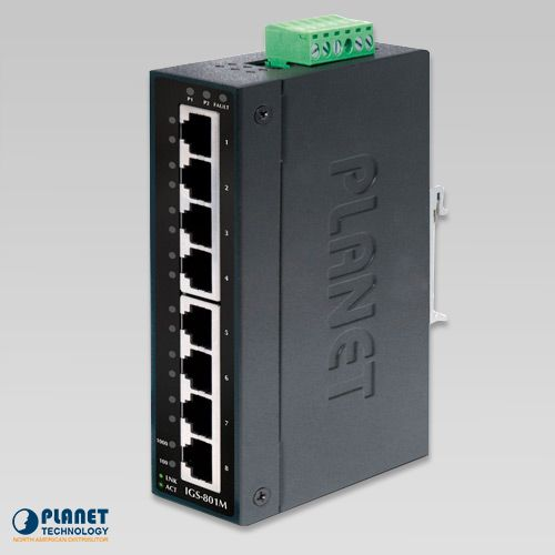IGS-801M Industrial 8-Port SNMP Switch