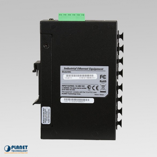 IGS-801M Industrial 8-Port SNMP Switch Side