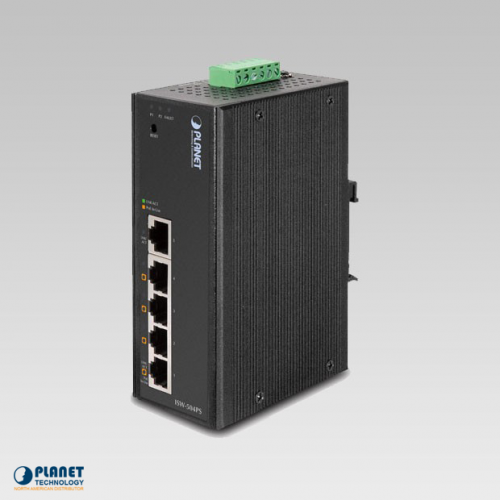 ISW-504PS 5-Port Industrial Ethernet Switch