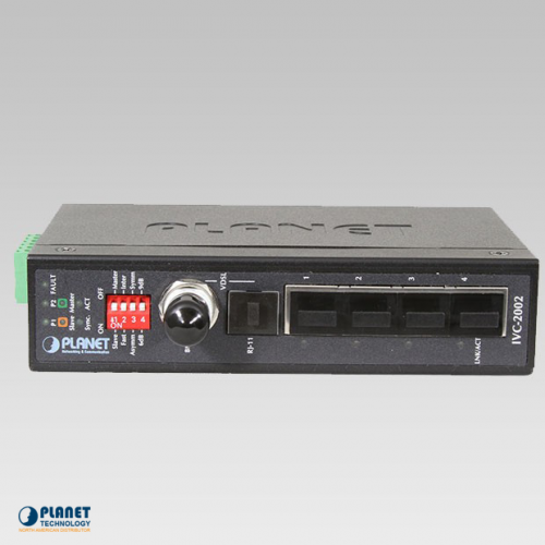 IVC-2002 Industrial 4-Port Ethernet Extender