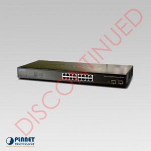 GSW-1602SF 16-Port Web Smart Gigabit Ethernet Switch