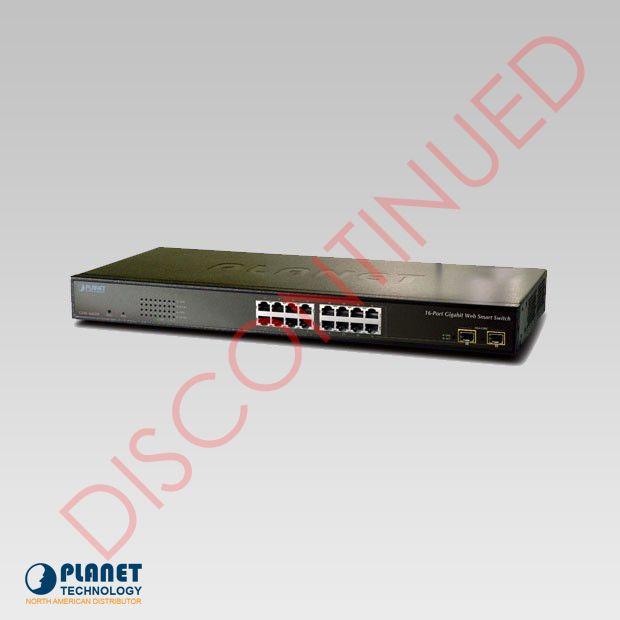 GSW-1602SF 16-Port Web Smart Gigabit Ethernet Switch
