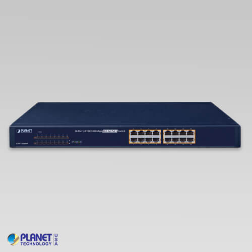 GSW-1600HP PoE Switch V2 Front