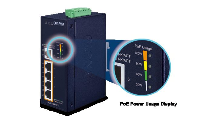 IGS-504HPT PoE LED Indicator