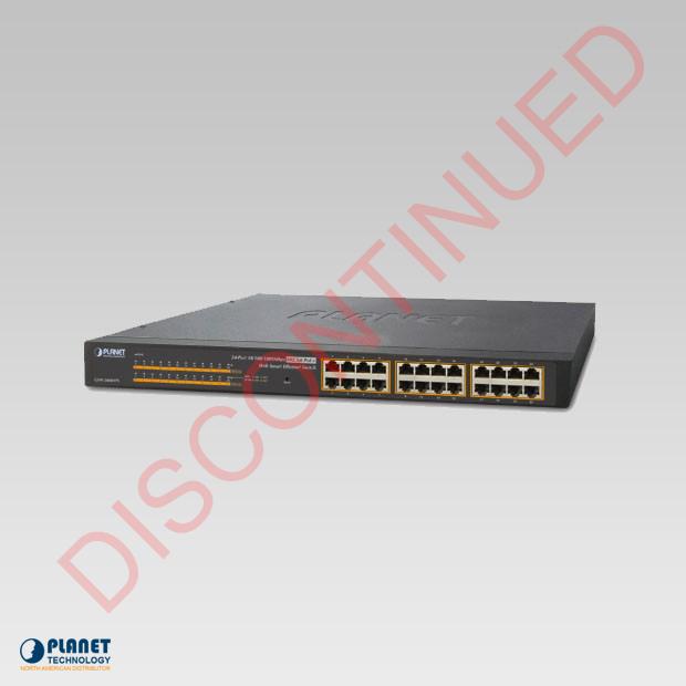 GSW-2400HPS 24-Port PoE Web Smart Ethernet Switch