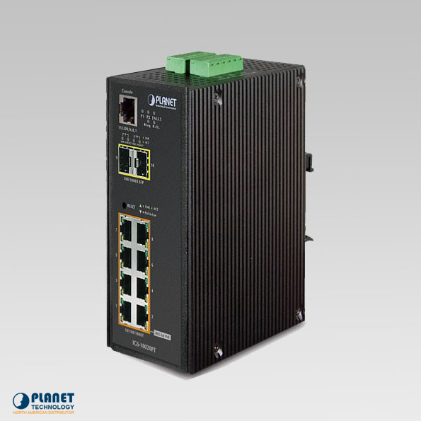 IGS-10020PT Industrial SNMP 8-Port Switch