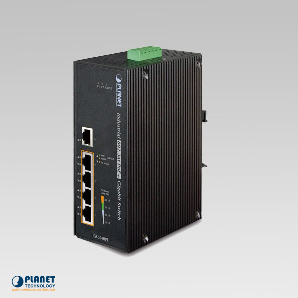 IGS-504HPT Industrial Gigabit 5-Port Switch