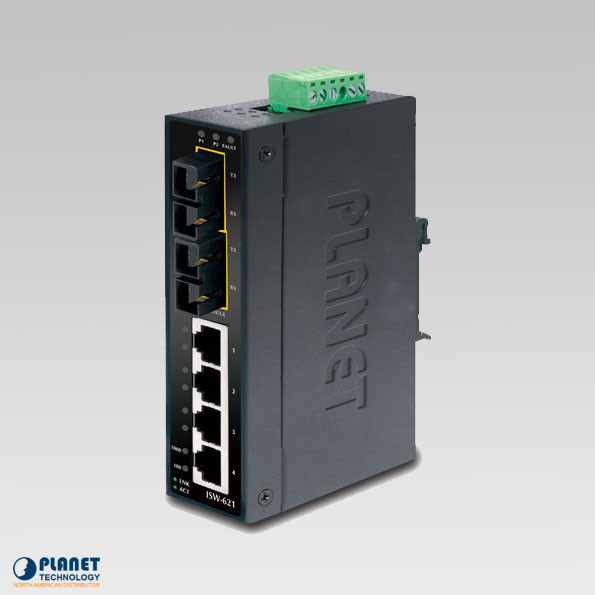 ISW-621S15 Industrial 4-Port Ethernet Switch