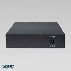 FSD-504HP Desktop PoE Switch Back