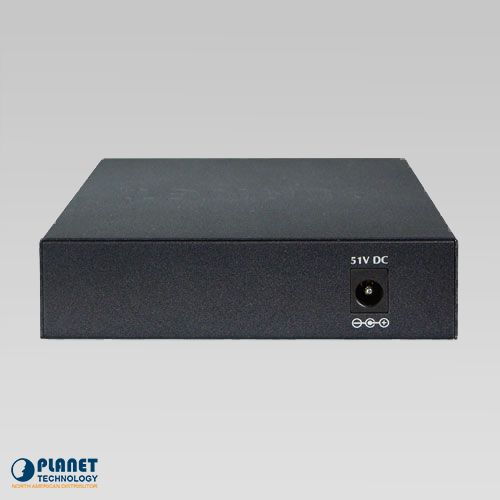 FSD-504HP Desktop PoE Switch Back