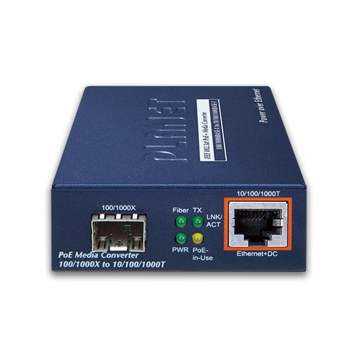 GTP-805A PoE Media Converter Front
