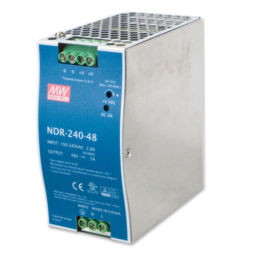 PWR-240-48 48V, 240W Din-Rail Power Supply (NDR-240-48)