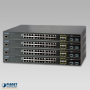 SGS-5220-24T2X PoE Switch Stacked