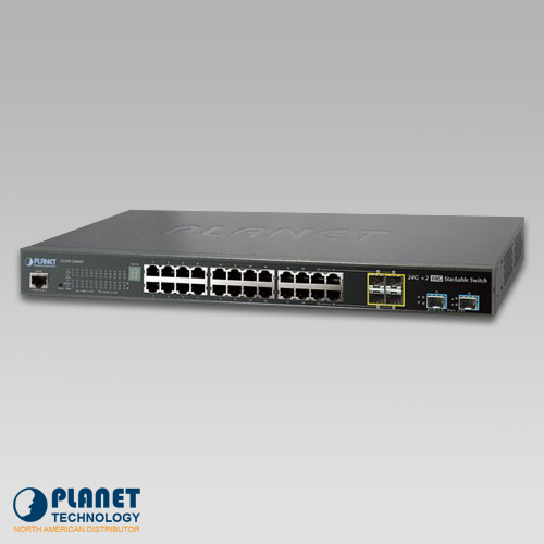 SGS-5220-24T2X PoE Switch Front