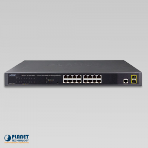 GS-4210-16T2S Managed Switch Front