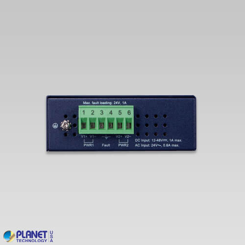 IGT-805AT Industrial Media Converter Back