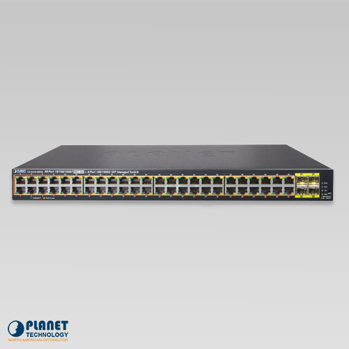 GS-4210-48P4S PoE Managed Switch Front