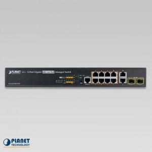 GS-5220-8P2T2S PoE Gigabit Ethernet Switch Front