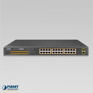 GSW-2620HP PoE Gigabit Ethernet Switch Front