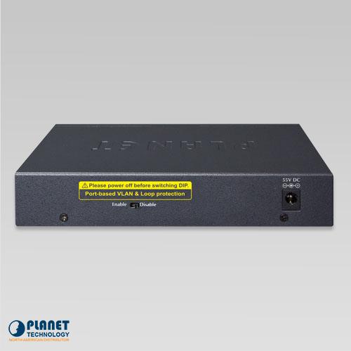 GSD-604HP 4-Port Desktop PoE Switch Back