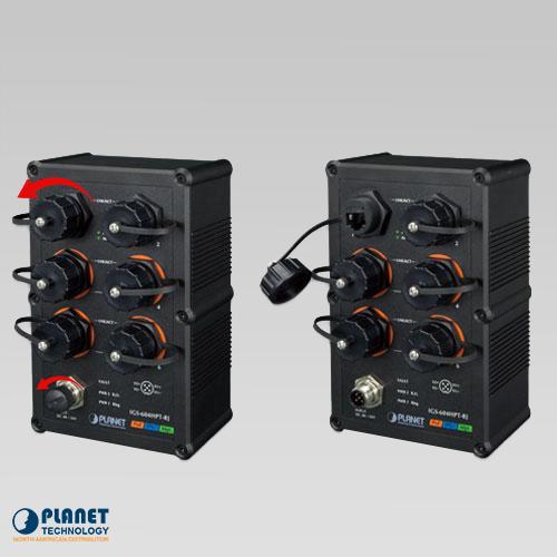IGS-604HPT-RJ Waterproof Industrial PoE Ethernet Cap
