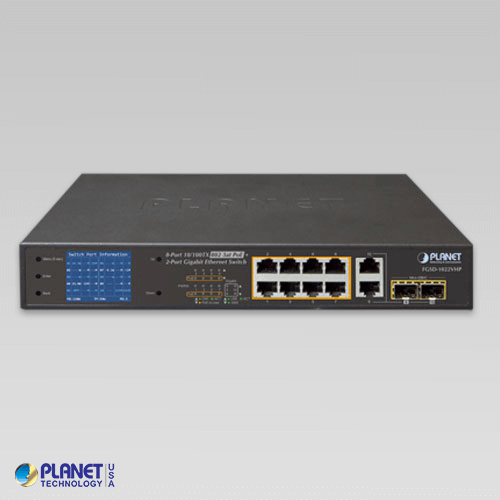 FGSD-1022VHP V2 PoE Switch Front
