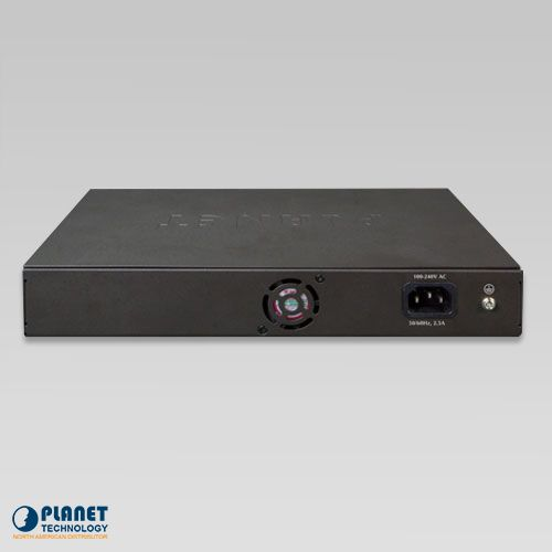 FGSD-1022VHP PoE Switch with LCD Monitor Back