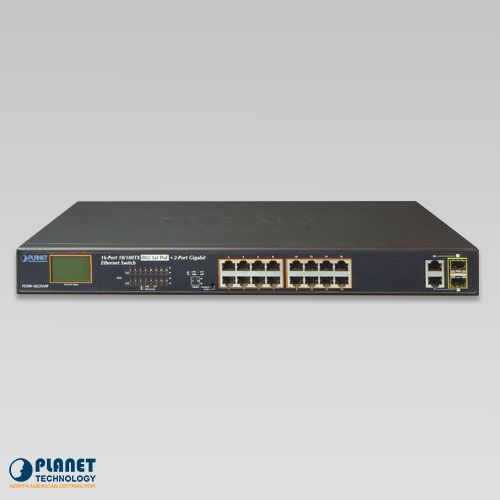 FGSW-1822VHP PoE Switch with LCD Monitor Front