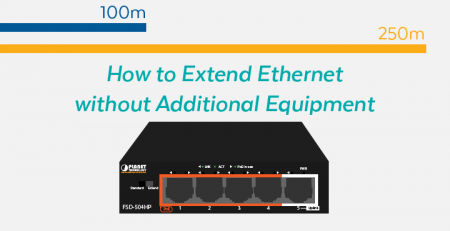 Ethernet switch with built-in extender