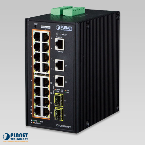 Industrial PoE Switch IGS-20160HPT