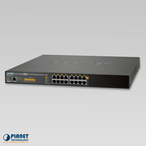UPOE-800G 8-Port Ultra PoE Managed Hub