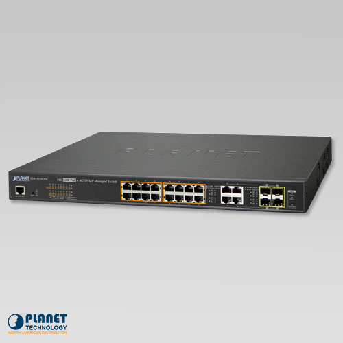 GS-4210-16UP4C 16-Port Managed Ultra PoE Switch