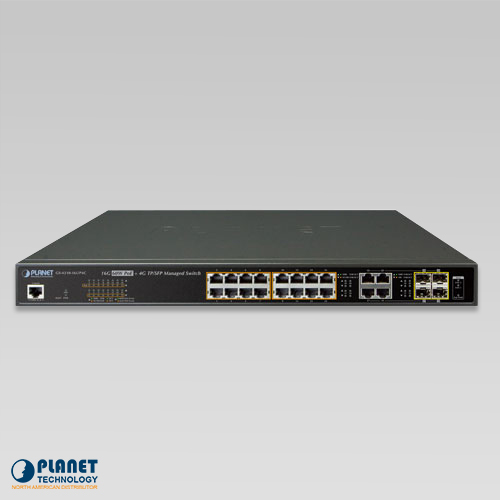 GS-4210-16UP4C 16-Port Managed Ultra PoE Switch Front