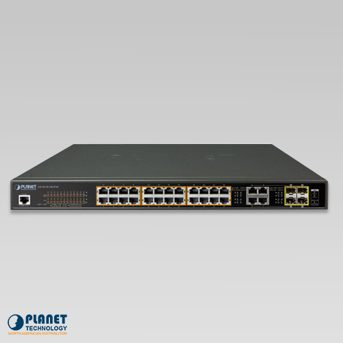 GS-4210-24UP4C 24-Port Ultra PoE Managed Switch Front