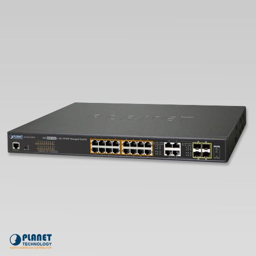 GS-4210-16P4C PoE Switch