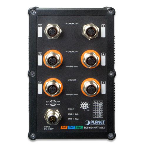 IGS-604HPT-M12 M12 Switch front